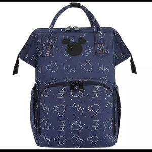 Mickey travel mommy insulated diaper backpack bag